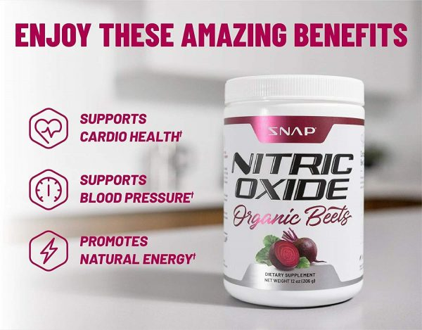 Organic Nitric Oxide Beets Root 306g: Super Food, Muscle, Heart Health - 2 Pack 3