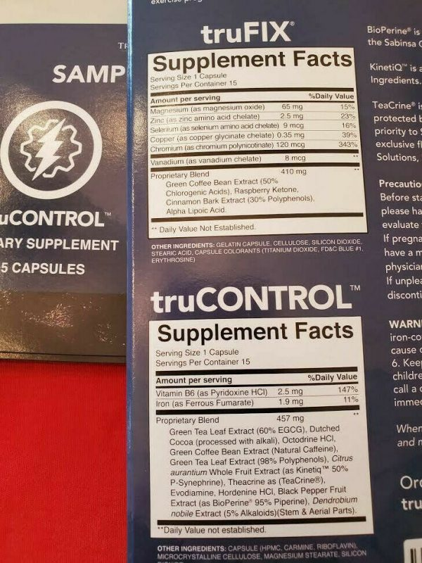 TruVision Health TruFix & TruControl Weight Loss 15 Day BOOST FAST-FREE SHIPPING 2