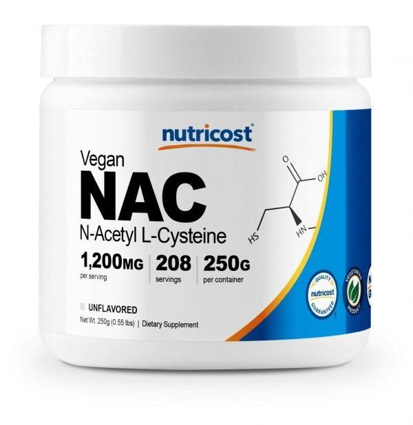 Nutricost N-Acetyl L-Cysteine (NAC) Powder, 250 Grams - Non-GMO and Gluten Free