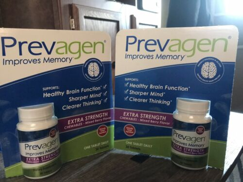 Prevagen Extra Strength Chewables Mixed Berry Flavor 30 count LOT OF 2