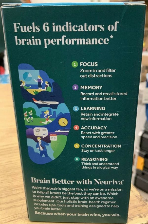 New Schiff Neuriva Brain Performance Plus Focus Memory 30 Capsules exp 05/2022 2