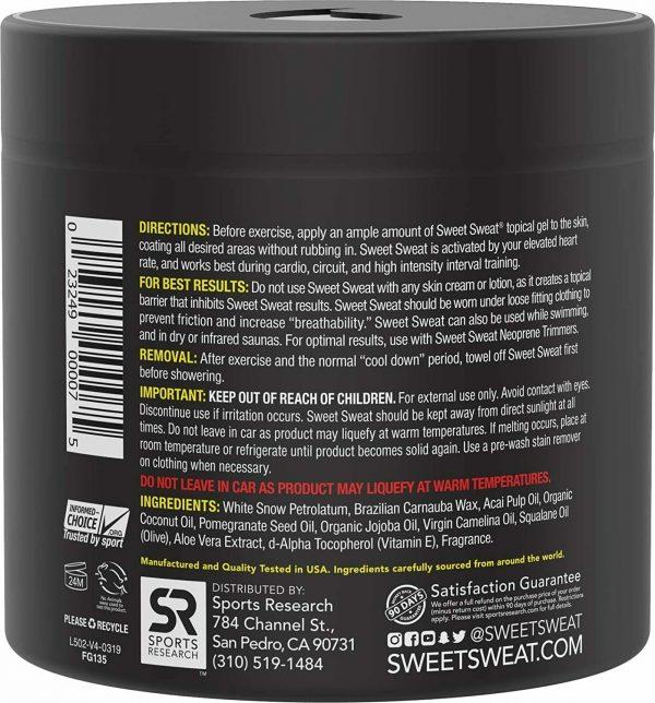 SWEET SWEAT ORIGINAL Jar 13.5oz Workout Enhancer Gel by Sports Research 1