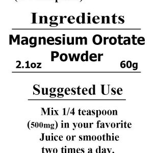 Magnesium Orotate POWDER ~ 120 Servings 500mg equal to 120 pills Capsules Tablet 1