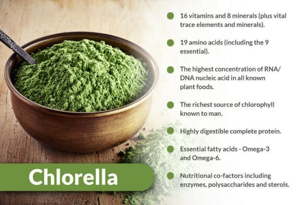 Organic Chlorella Tablets Broken Cell 3000mg Per Serving, 250 Tablets  1