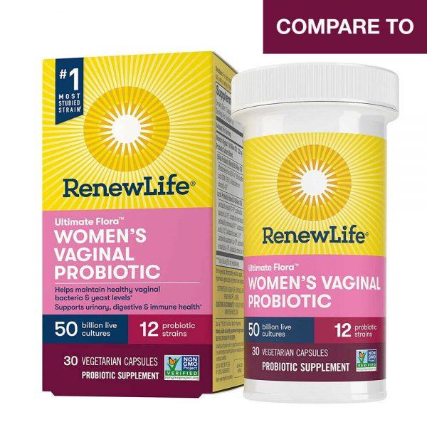 BULKPROBIOTICS Renew Life Women's Probiotic 50 Billion CFU 30 Capsules VEGAN