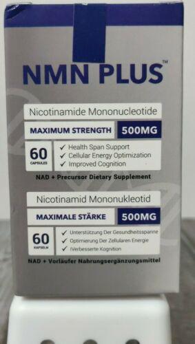 Maximum Strength NMN Plus (Nicotinamide Mononucleotide) 500mg - 60 Caps 10/19/23