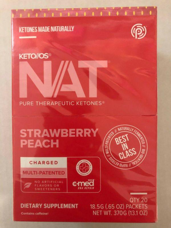 Pruvit Keto OS Nat Strawberry Peach (Charged) 5, 10 & 20 Packs  FREE SHIPPING 2