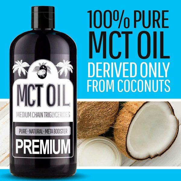 100% PURE MCT Oil (Raise Ketones C8 & C10 MCTs) Keto & Paleo Weight Loss - 8oz 1