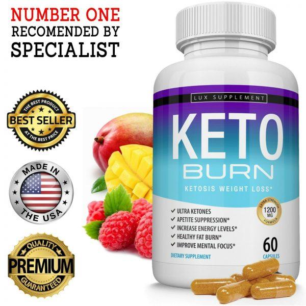 Keto X BURN Diet Pills 1200MG Weight Loss Ketosis Fat Burner Carb Blocker Everyo 1