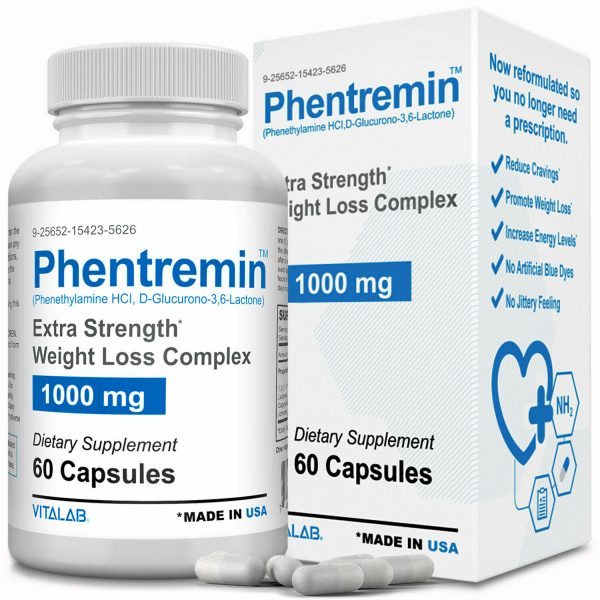 Phentremin® Extra Strength Weight Loss Complex 1000mg Appetite Suppressant 37.5 4
