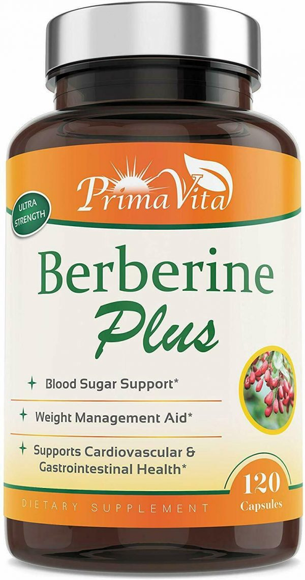 Berberine Plus, 1200mg,100% Pure, Ultra Strength, 60 Day Supply, 120 Veggie Caps