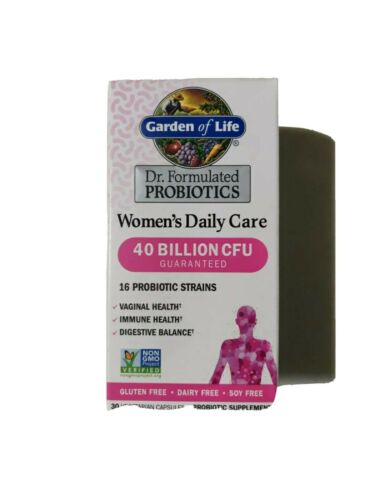 Garden of Life Dr. Formulated Probiotics Women's Daily Care 30 Capsules
