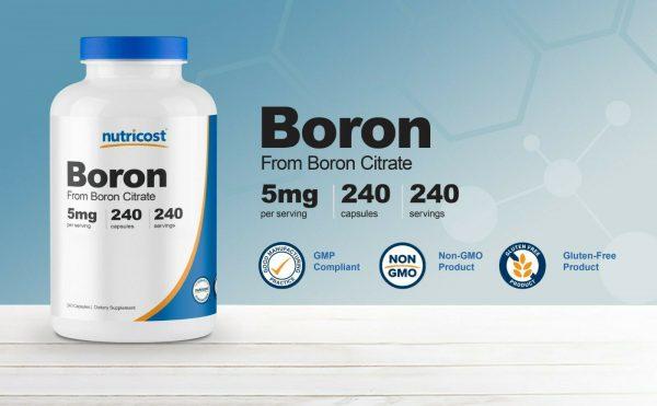 Nutricost Boron Capsules 5mg Per Serving (240 Vegetarian Capsules) 1