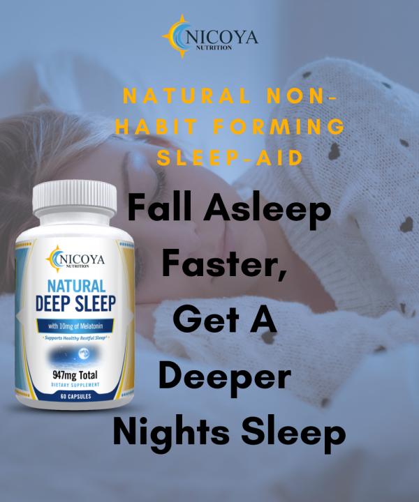Natural Deep Sleep Supplement - Melatonin 10 mg, Sleep Aid - Deeper Nights Rest 5