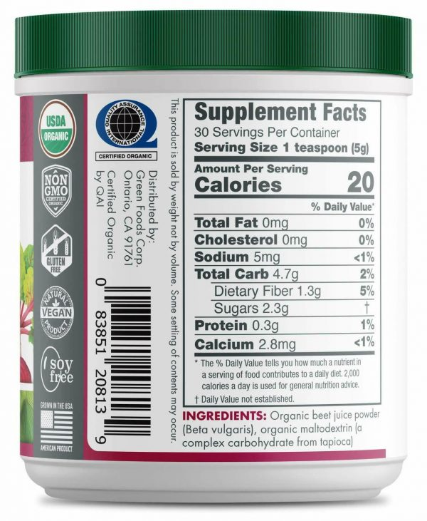 Green Foods- Beet Essence Juice Powder- Organic and Raw Superfood, Wholefood ... 2