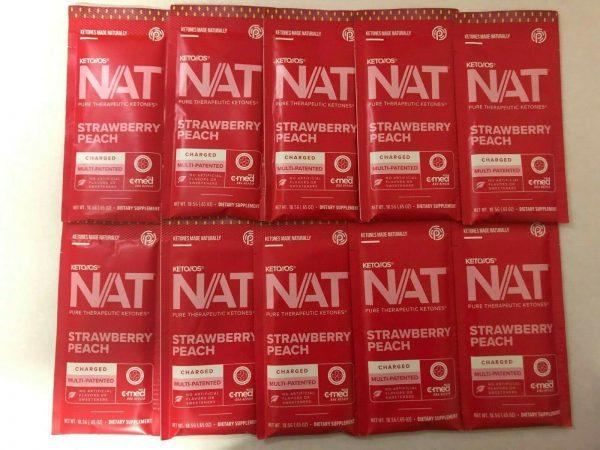 Pruvit Keto OS Nat Strawberry Peach (Charged) 5, 10 & 20 Packs  FREE SHIPPING 1