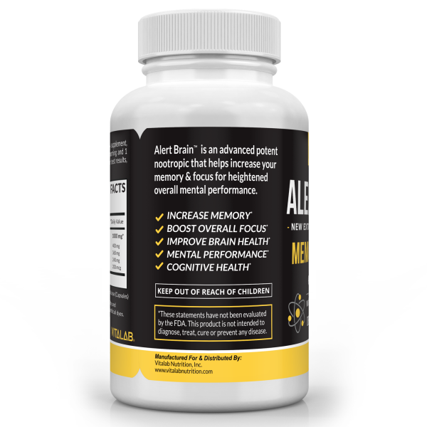 Alert Brain™ Memory & Focus Booster Brain Supplement Advanced Nootropic 3