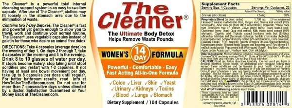 The Cleaner Total Body Detox and Colon Cleanse (All Variations) 6