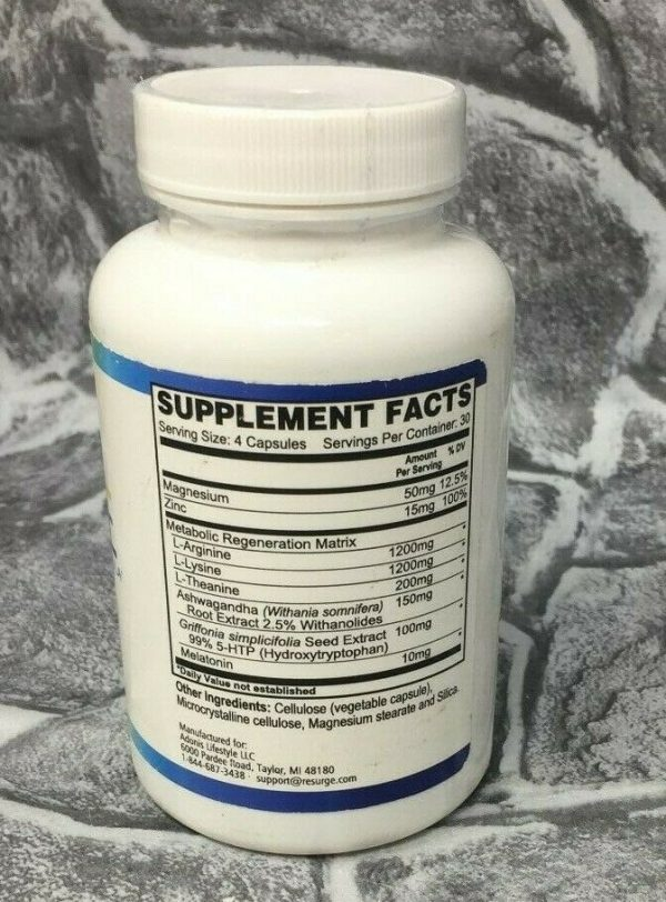 Resurge Dietary Supplement Deep Sleep High Support 120 Capsules EXP 04/22 - NEW! 1