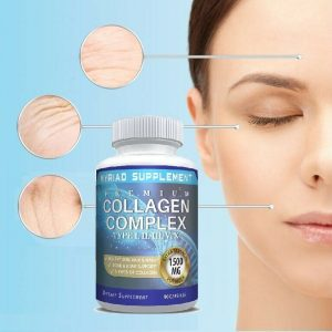 🔥 Premium Collagen Peptides Pills Hydrolyzed Anti-Aging (Types I,II,III,V,X) 🔥 1