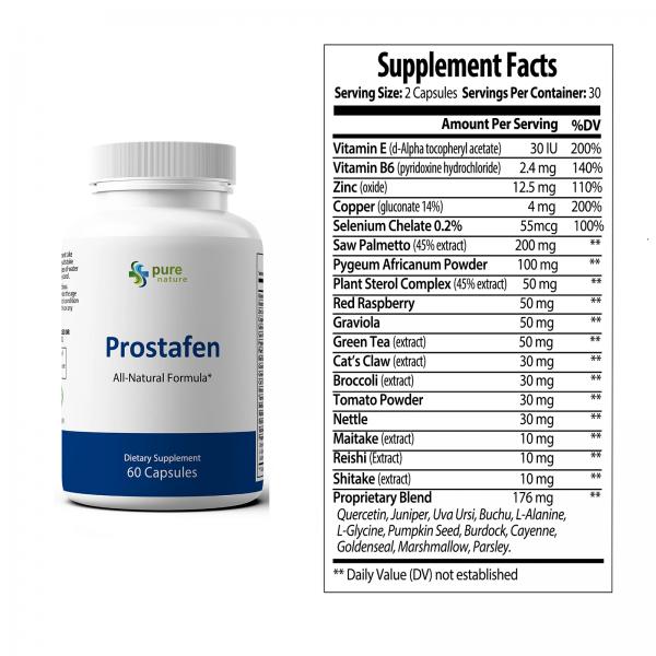 Prostafen  PureNature Plus Prostate Support Formula- 60 Capsules