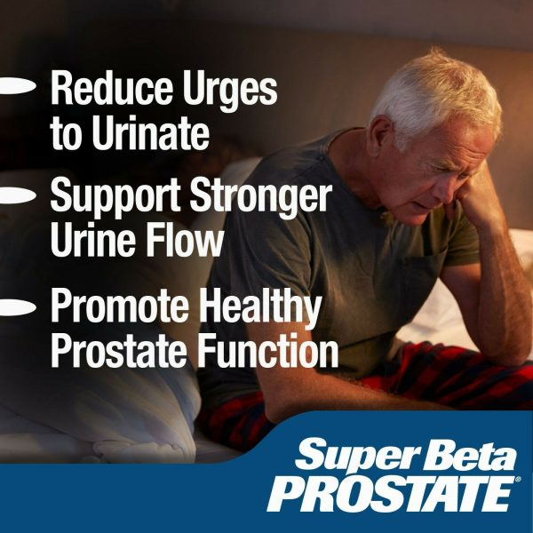 Super Beta Prostate Supplement -Reduce Frequent Urges to Urinate- NEW -FREE S&H 3