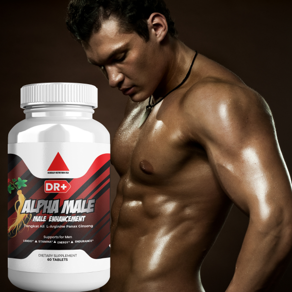 Alpha Male Testosterone Booster L Arginine, Maca, Ginseng Extract for Men 1