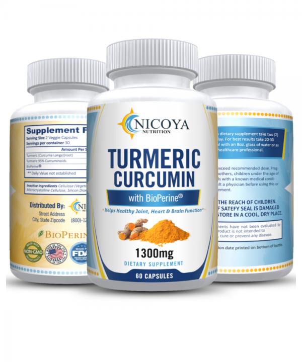Turmeric Curcumin with Bioperine 1300mg - Anti-inflammatory & Joint Pain Relief 7
