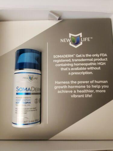 New U Life SOMA DERM Homeopathic Transdermal Gel New Sealed 3.4oz, Genuine