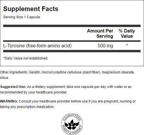 Swanson L-Tyrosine 500 mg 100 Capsules 1