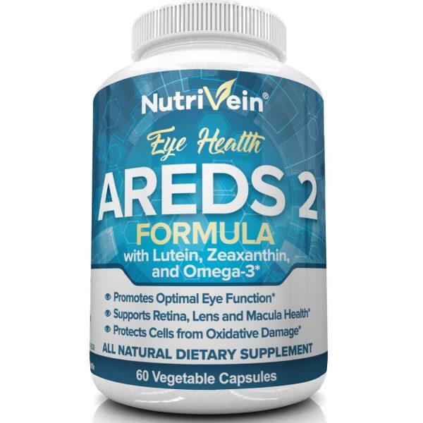 Nutrivein AREDS 2 Eye Vitamins - Supports Eye Strain Dry Eyes - Eye Health Boost 3