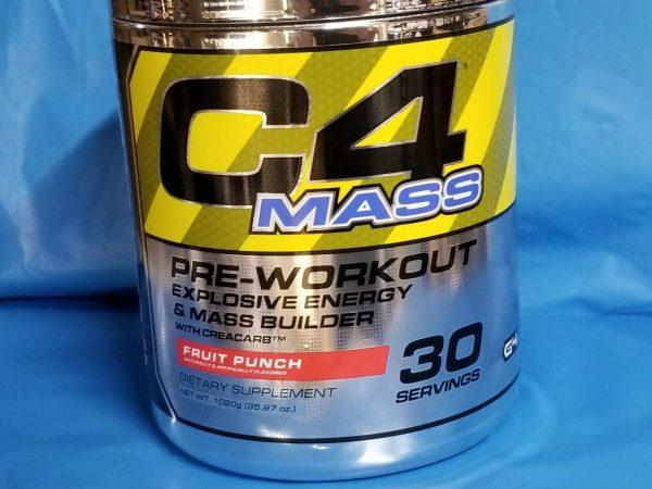 Cellucor C4 Mass Pre-workout Energy & Mass Builder Fruit Punch PAST DATE DEAL 3