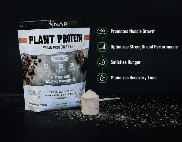 Organic Plant Protein Powder, Muscle Builder & Recovery Vegan Banana 30 Servings 4