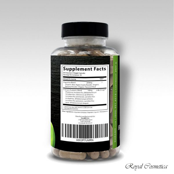GutBio Align Prebiotics & Postbiotics Digestive Supplement 120 Caps by KaraMD 2