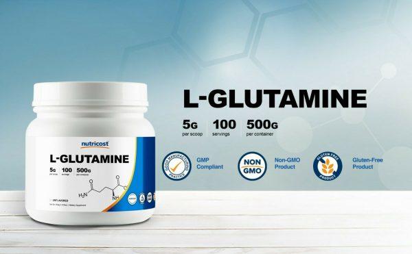 Nutricost Pure L-Glutamine Powder 500G - 100 Servings, Non-GMO & Gluten Free 2