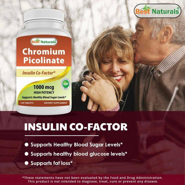 Best Naturals Chromium Picolinate 1000 mcg 120 Tablets 4