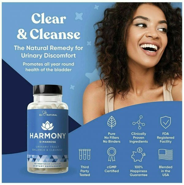 Harmony - Urinary Tract & Bladder Cleanse - 60 Vegetarian Capsules by Eu Natural 4