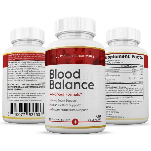 Blood Balance Advanced Formula Cholesterol Blood Sugar Glucose Support 3 Pack 4