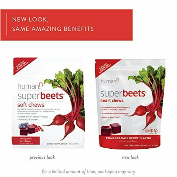 HumanN SuperBeets Heart Chews | Grape Seed Extract and Non-GMO Beet Powder Helps 1