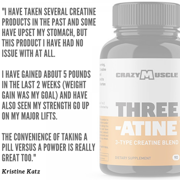 Crazy Muscle® Creatine Monohydrate Pills: [PROVEN] Muscle Building Supplement ✅✅ 9