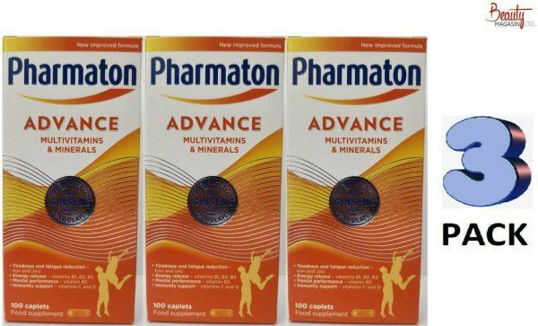 3 (THREE) PACK Pharmaton Capsules 100 Capsules (containing Unique Ginseng G115)