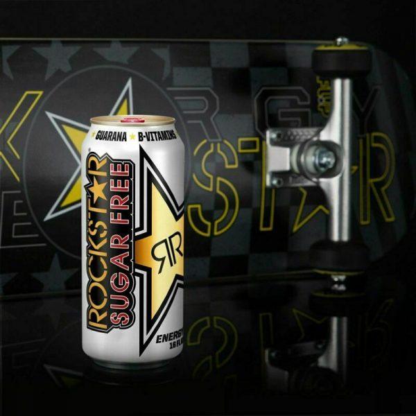 Rockstar Energy Drink, Sugar Free Original Formula 16oz Cans 12 Pack O.G. Flavor 5