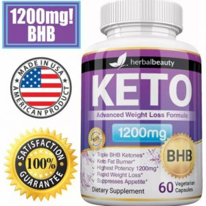 3 x Herbal Beauty KETO BHB 1200mg PURE Ketone FAT BURNER Weight Loss Diet Pills 2
