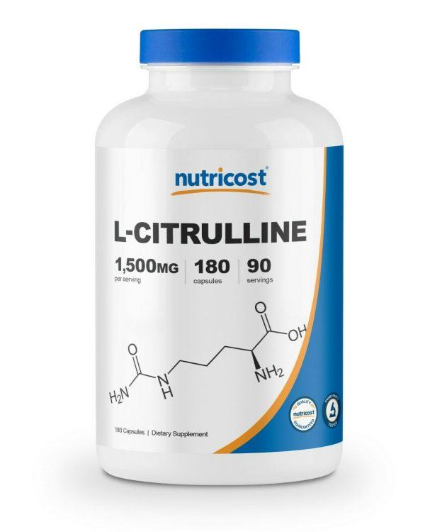 Nutricost L-Citrulline 750mg, 180 Capsules - Gluten Free & Non-GMO