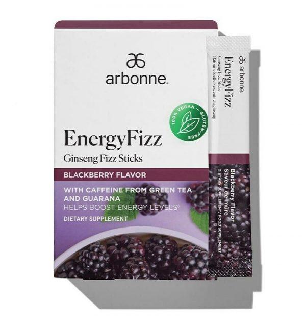 Arbonne EnergyFizz Ginseng Fizz Sticks – Blackberry Flavor #2109