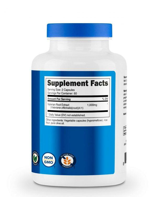 Nutricost Valerian Root Capsules 1000mg, 120 Caps - Gluten Free, Non-GMO 4