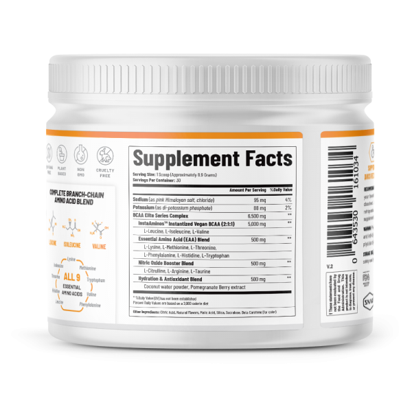 BCAA Powder Peach Mango Nitric Oxide Pre Workout & Muscle Strength - 30 Servings 1
