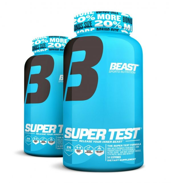 Beast Sports Super Test 216 ct: The Ultimate Testosterone Booster: Best by 4/21 3