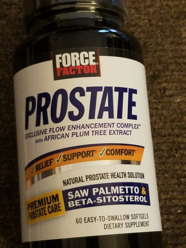 PROSTATE RELIEF   FORCE FACTOR PROSTRATE- Exp. 6/2023 or Later FREE SHIPPING