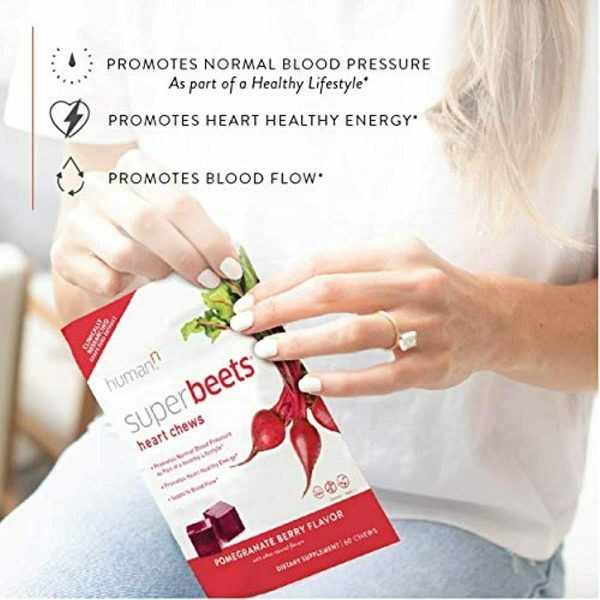 HumanN SuperBeets Heart Chews | Grape Seed Extract and Non-GMO Beet Powder Helps 4